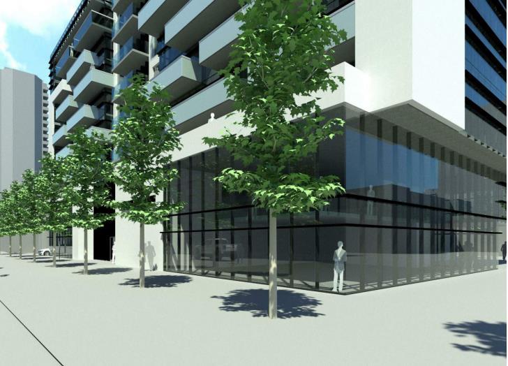 Rendering of 65 Raglan Avenue Condos ground-floor retail