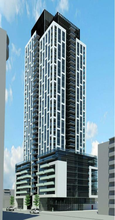 Rendering of 65 Raglan Avenue Condos full building exterior