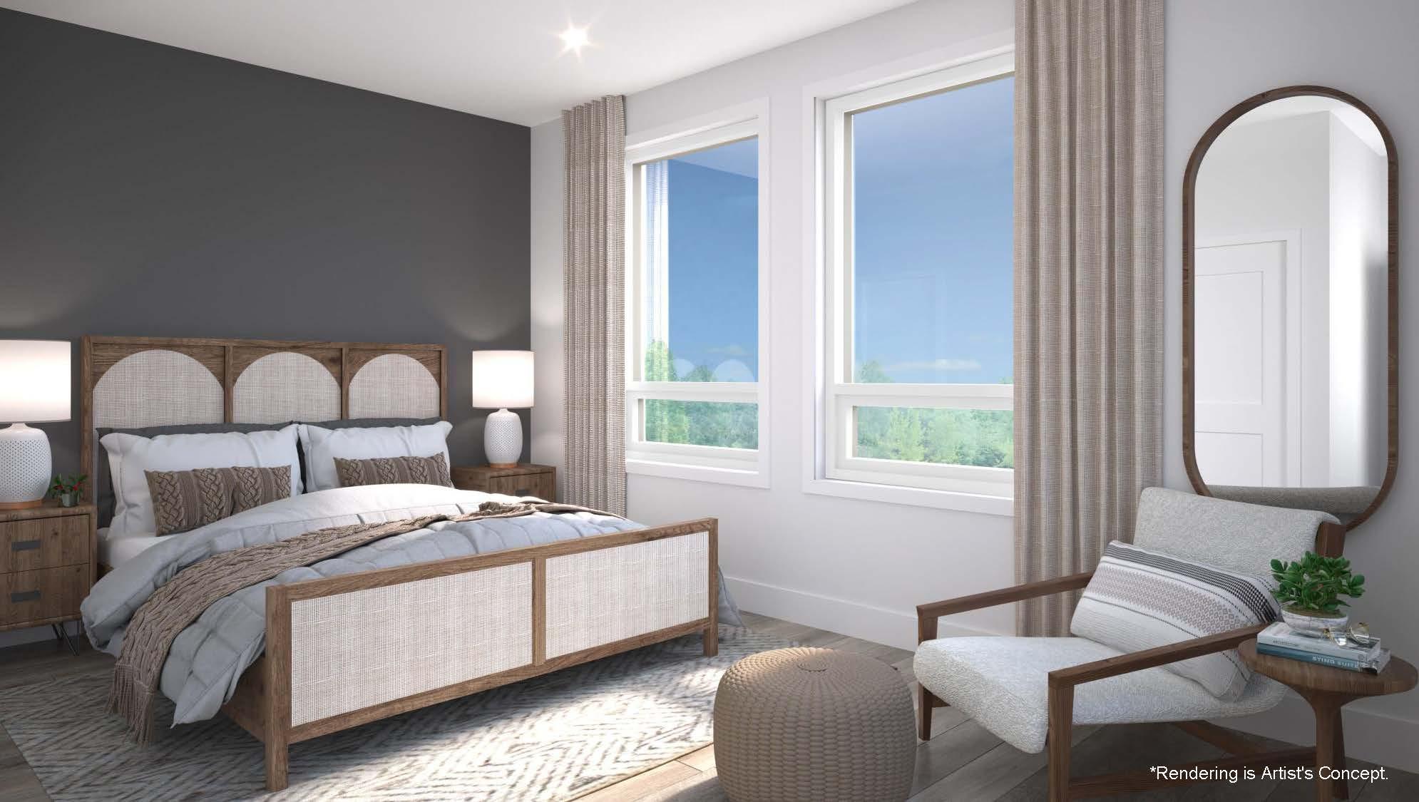 Rendering of Reign Condos Bedroom