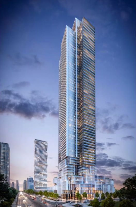 Rendering of M4 Condos exterior full tower view