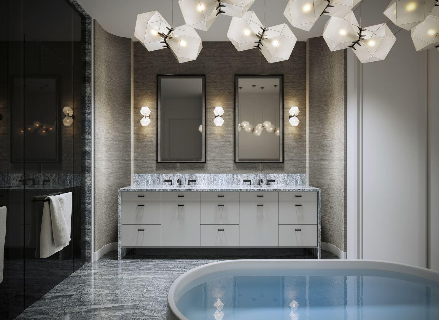 Rendering of 10 Prince Arthur Condos Bathroom.