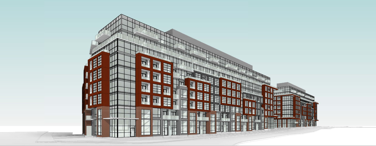 Rendering of 1625 Military Trail Condos exterior looking Southwest