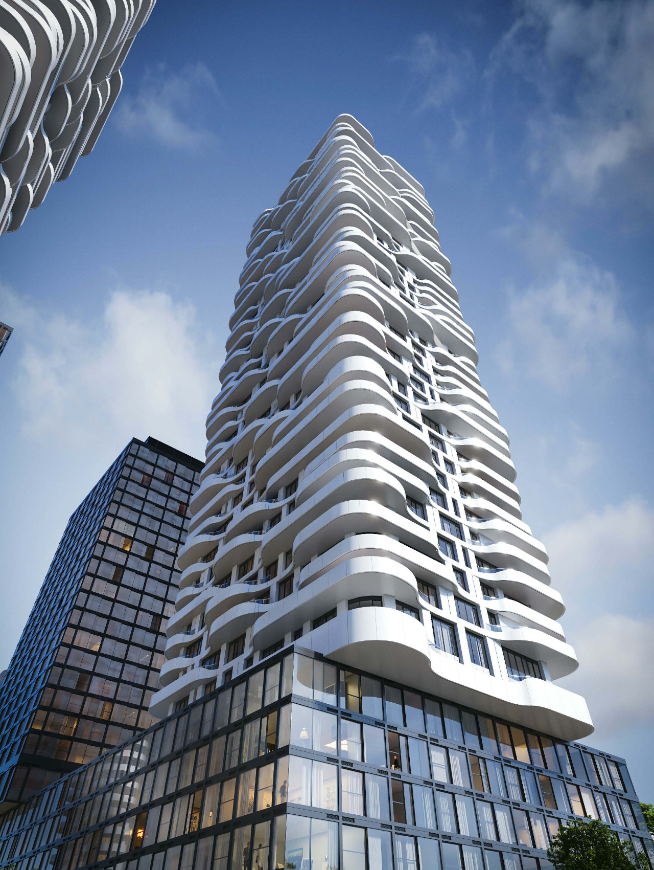 Rendering of 180 Steeles Avenue West Condos view from the ground up.