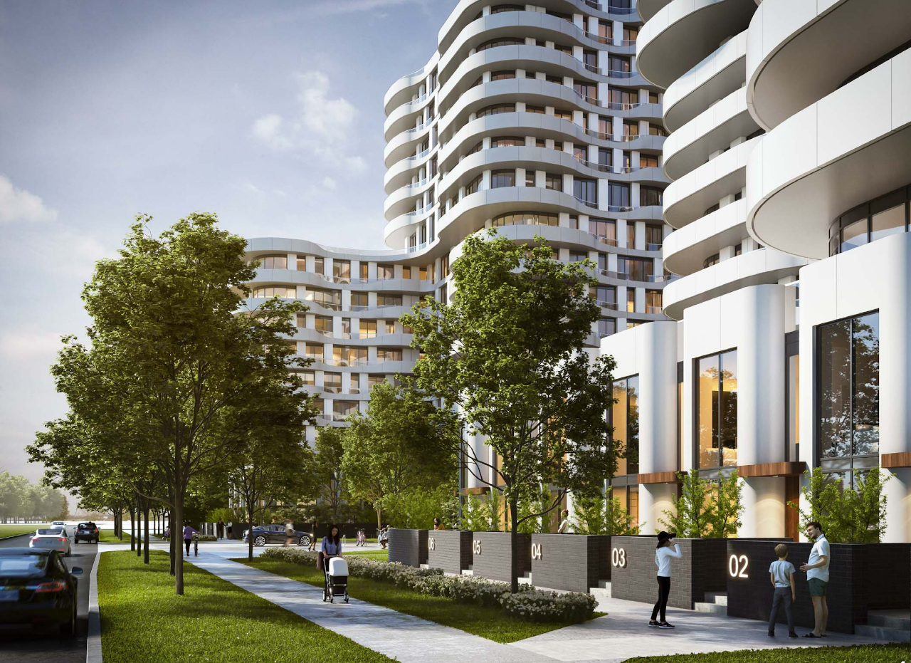 Rendering of 180 Steeles Avenue West Condos townhomes.