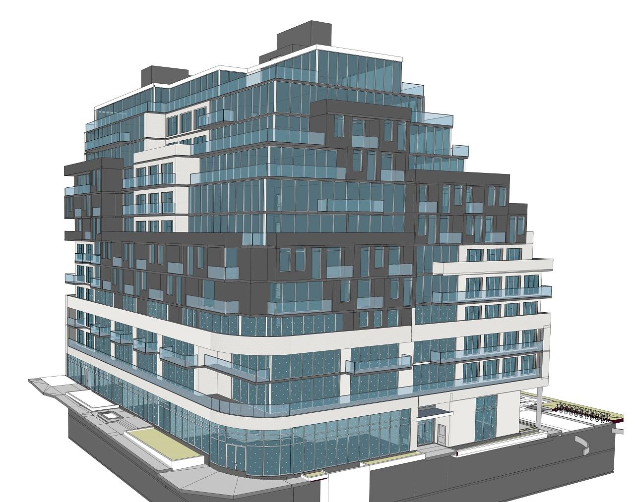 Exterior rendering of 3150 Eglinton East Condos.