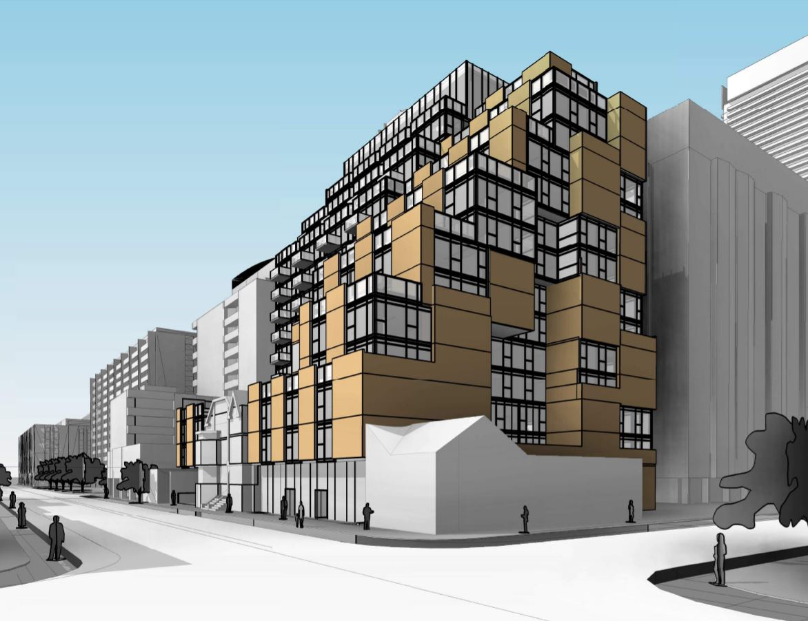 Rendering of 506 Church Street Condos side view