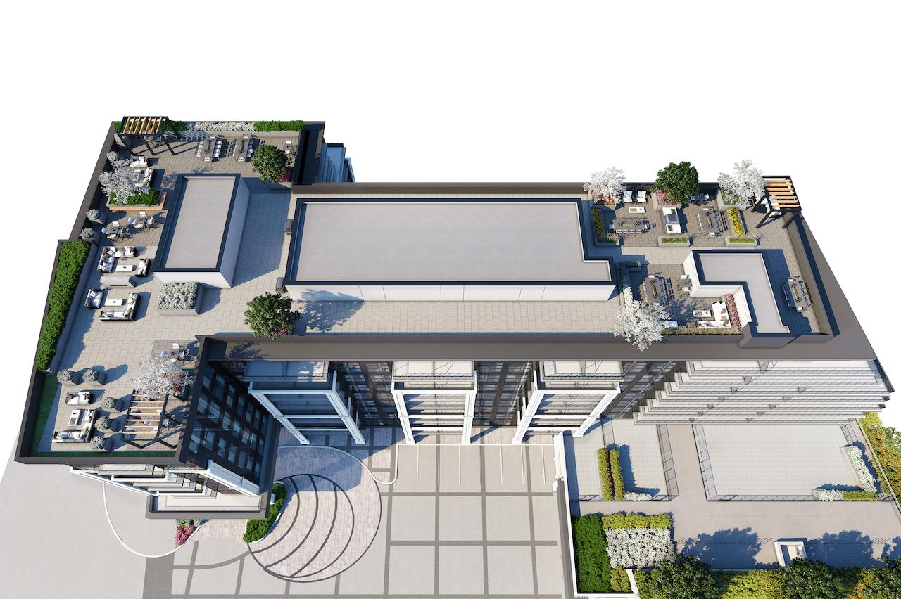 Rendering of The Butler Condos rooftop 3d plan.