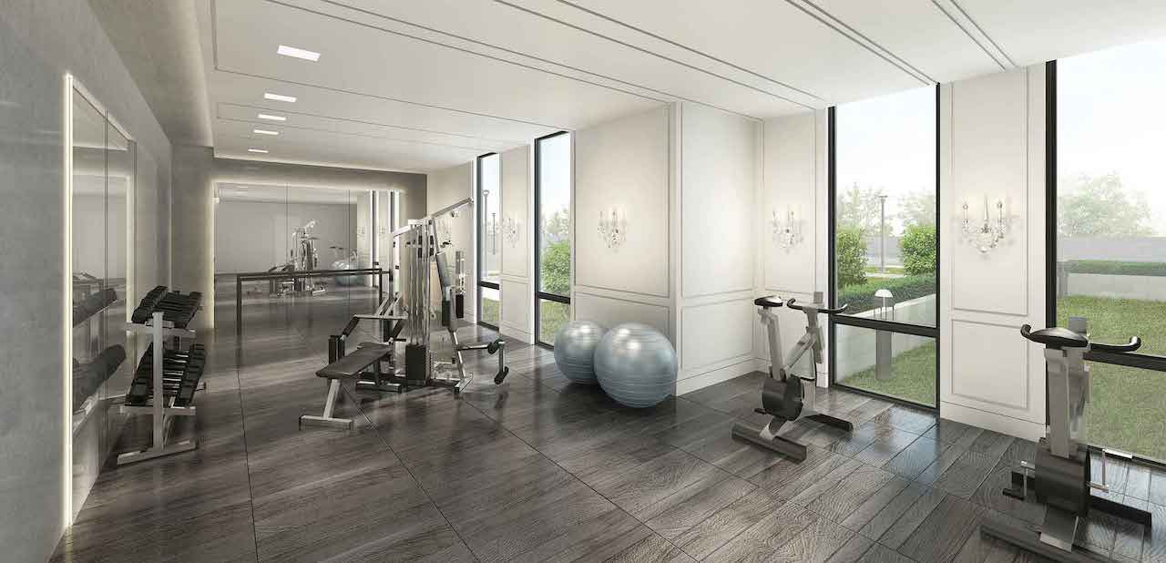 Rendering of 42 Mill St Condos Fitness Centre