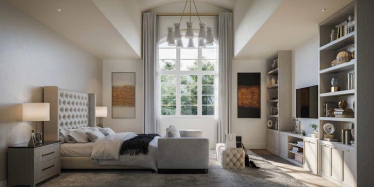 Rendering of La Reserve Towns suite interior bedroom.