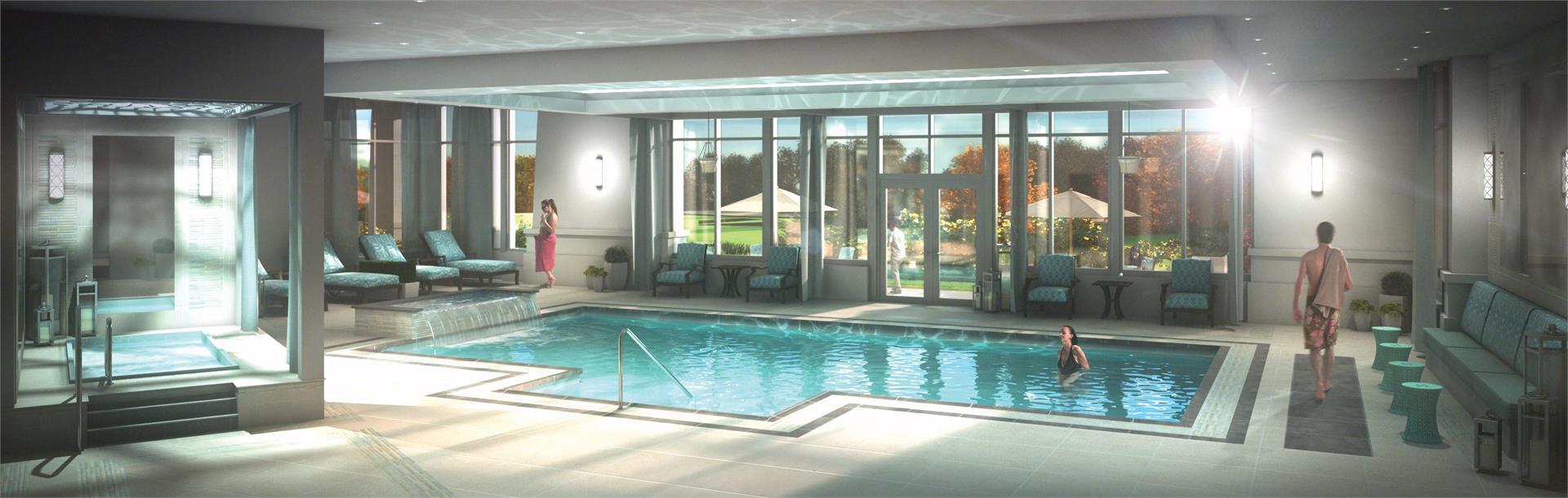 Rendering of Upper Vista Condos indoor swimming pool