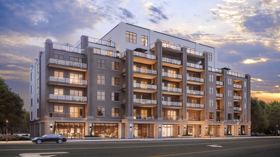 Exterior rendering of The Stanley District Condos in Niagara Falls