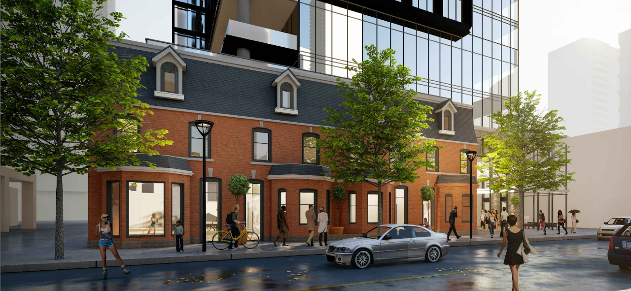 Rendering 8 Wellesley Residences building exterior street-level.