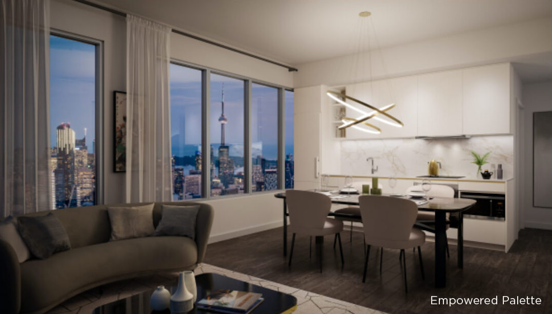 Rendering of 8 Wellesley Residences suite interior Empowered Palette