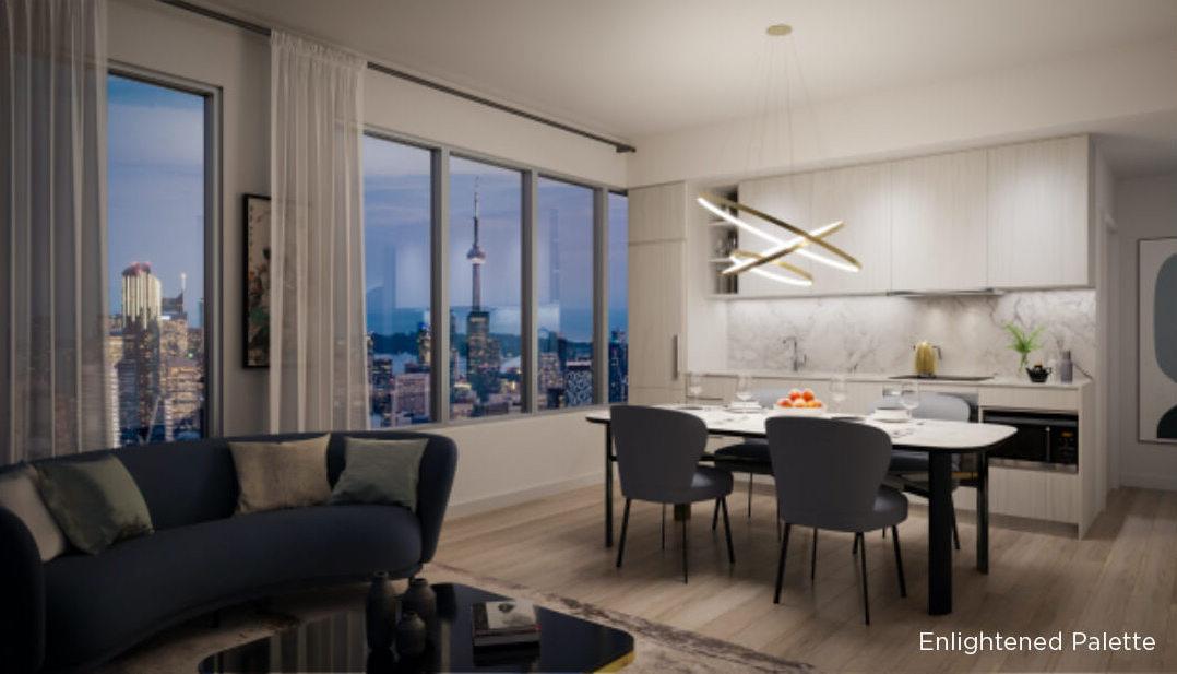 Rendering of 8 Wellesley Residences suite interior Enlightened Palette