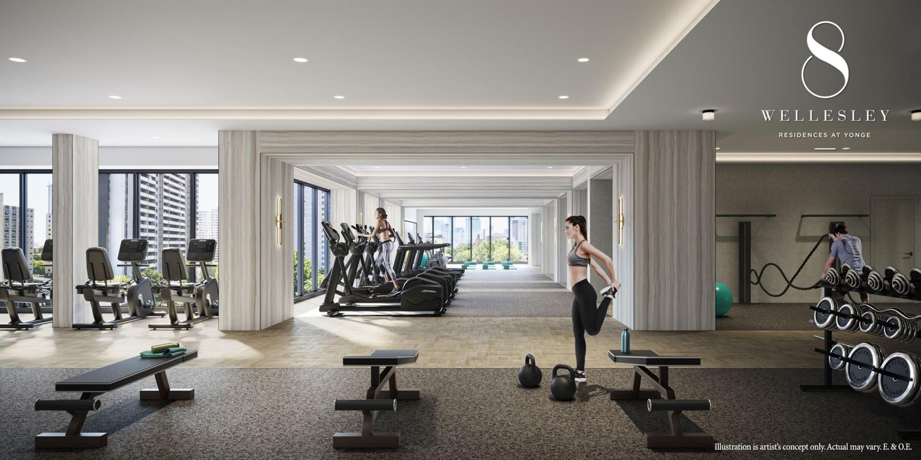 Rendering of 8 Wellesley Residences fitness centre