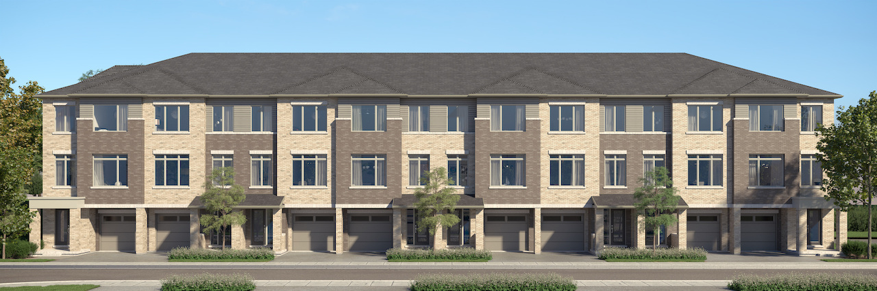 Rendering of Cachet ParQ traditional Towns exterior.