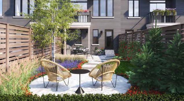 Greenhill Towns rendering exterior backyard