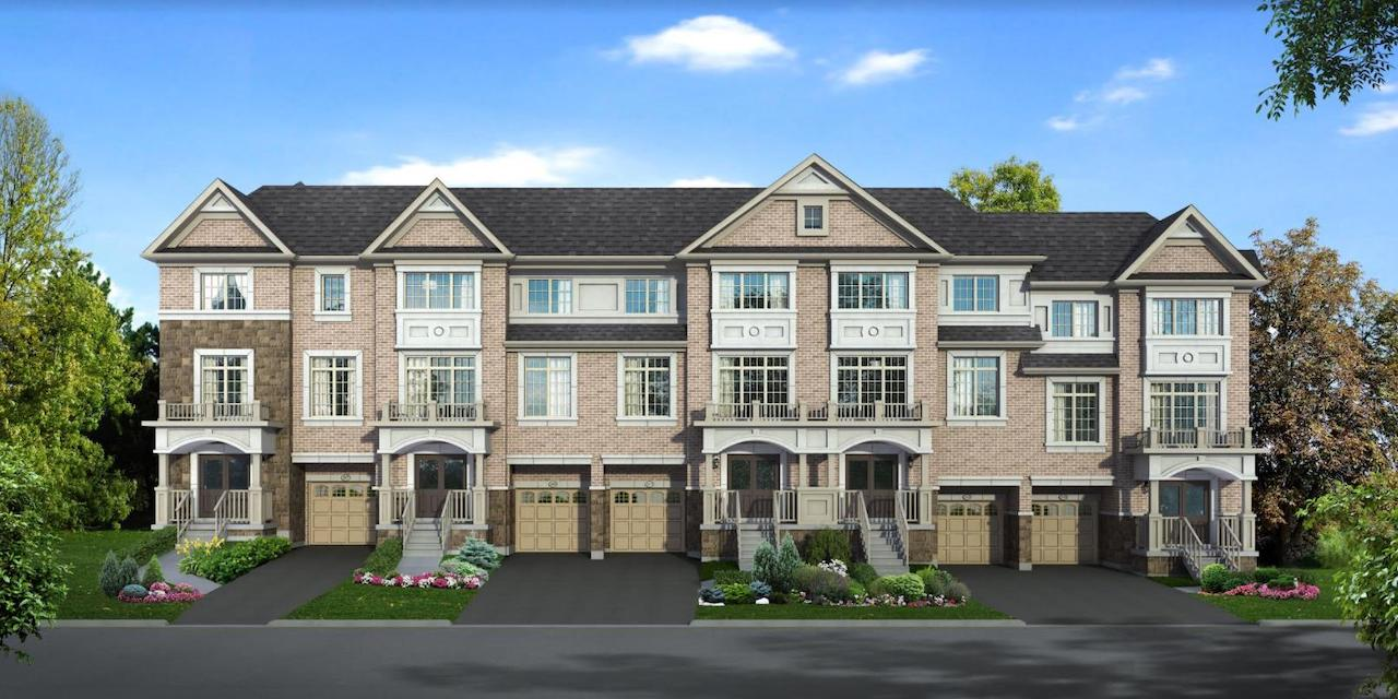 Rendering of Hilltop towns at Old Harwood.