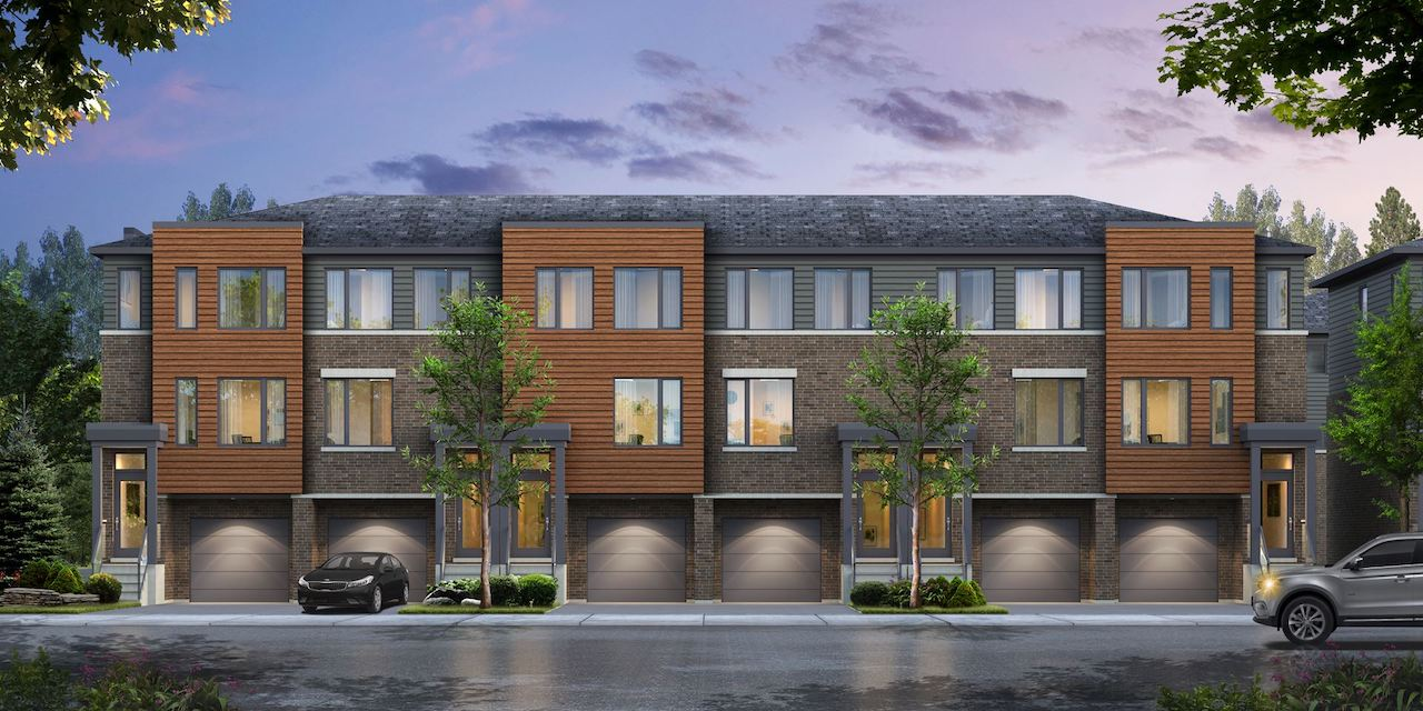 Rendering of the Roxboro towns exterior front-facing.