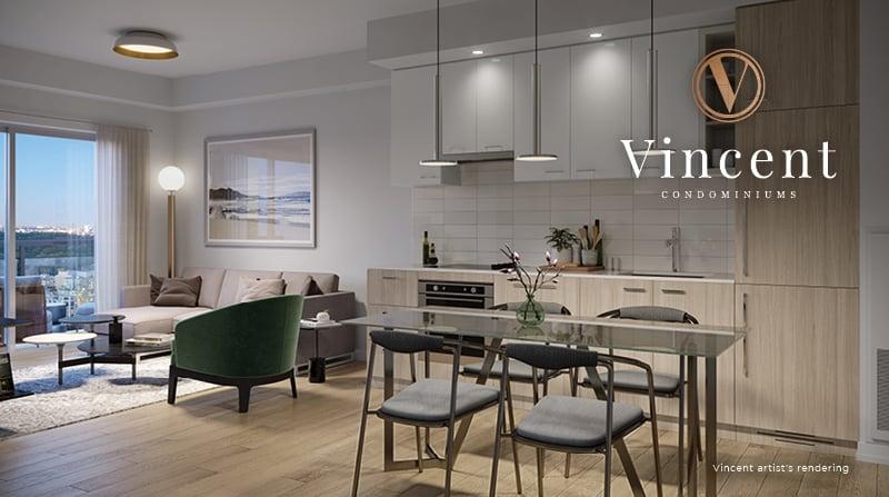 Rendering of Vincent Condos suite interior