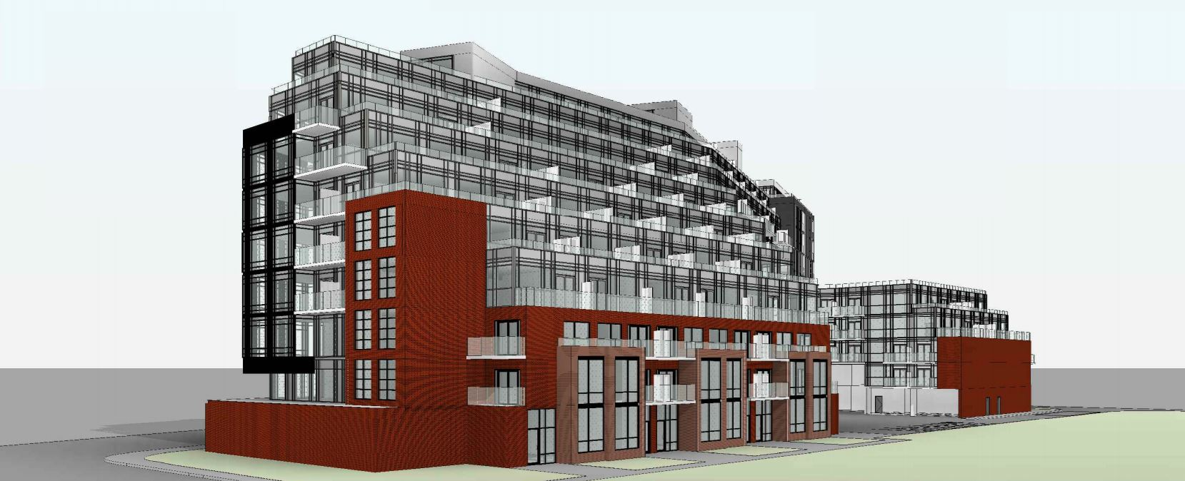 Exterior rendering of 1615 Kingston Road Condos angle 2.
