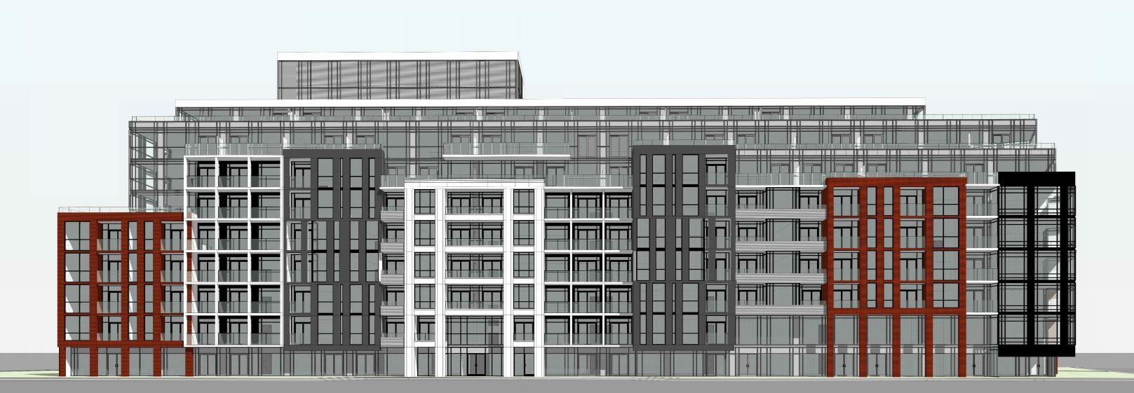 Exterior rendering of 1615 Kingston Road Condos angle 3.