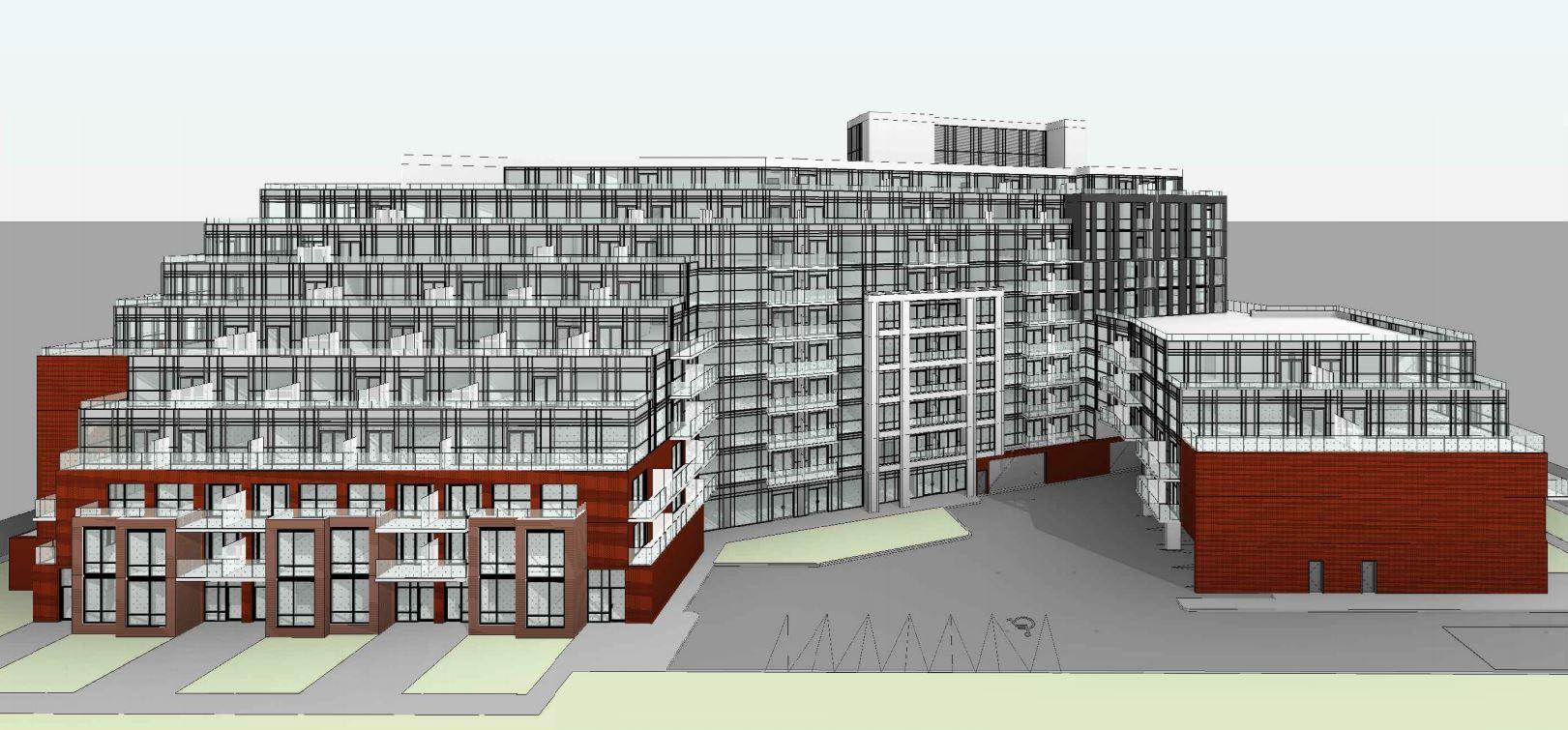 Exterior rendering of 1615 Kingston Road Condos angle 4.
