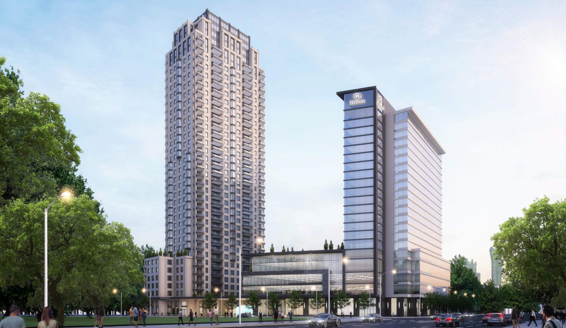 Exterior rendering of 4050 Yonge Street Condos and Hotel in Toronto