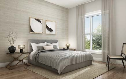Rendering of Lackner Ridge Condos suite bedroom.