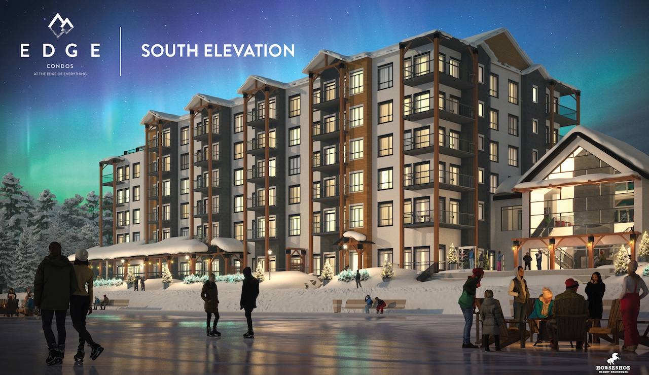 Rendering of Edge Condos At Horseshoe south elevation.
