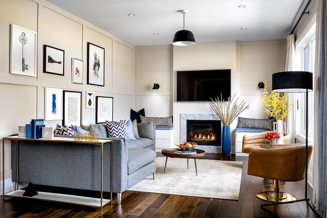 Rendering of Simcoe Landing interior living room
