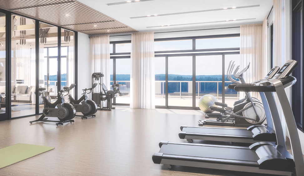 Rendering of The Summit Towns fitness centre.