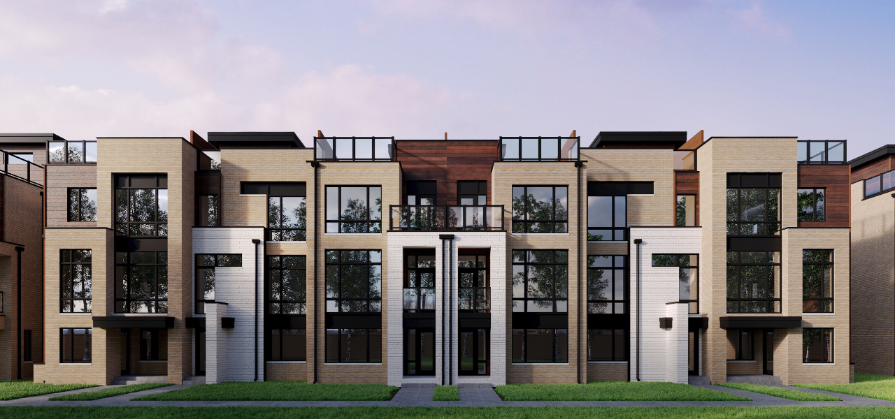 Exterior rendering of The Towns on Bayview