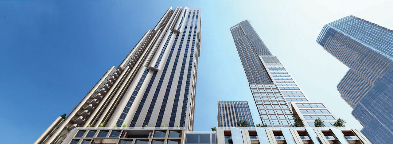 Rendering of Towers 2 (R) and 3 (L) at 2180 Yonge Condos in Toronto
