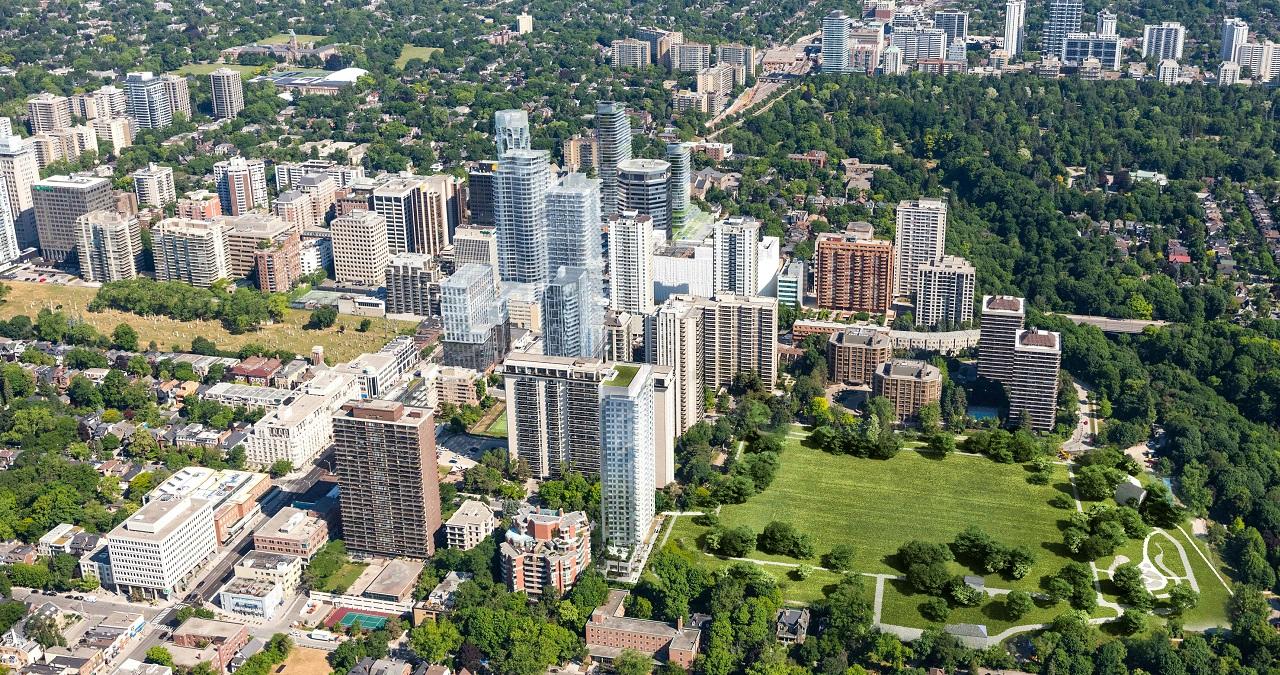Rendering of 49 Jackes Avenue Condos North West aerial