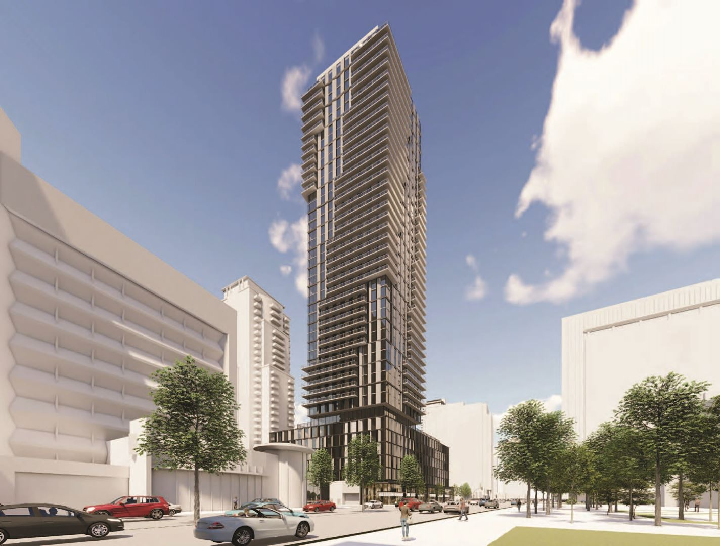 Exterior rendering of 5051 Yonge Street Condos full view