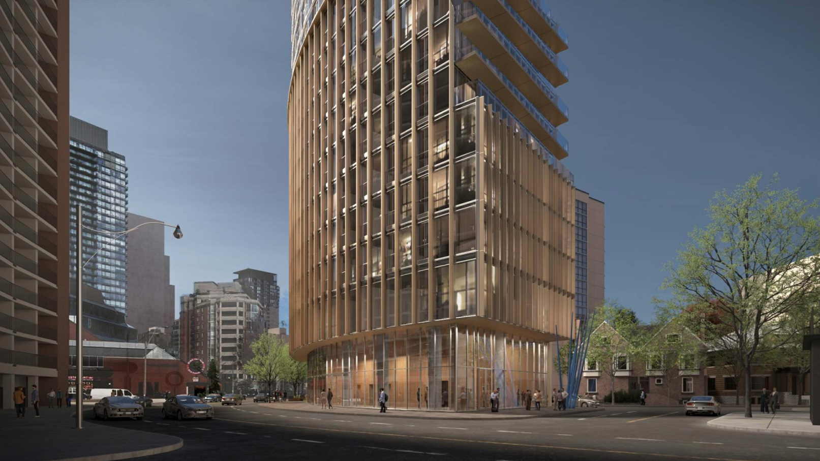 Rendering of 717 Church Street Condos podium and streetview