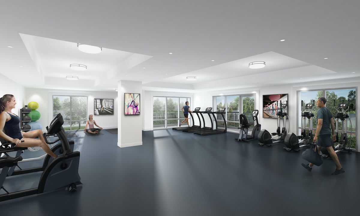 Rendering of MODO Condos fitness centre