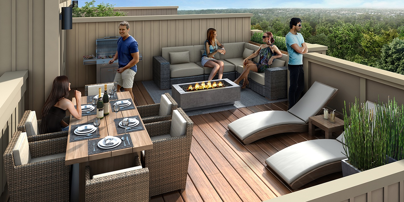 Rendering of MODO Condos and Towns terrace