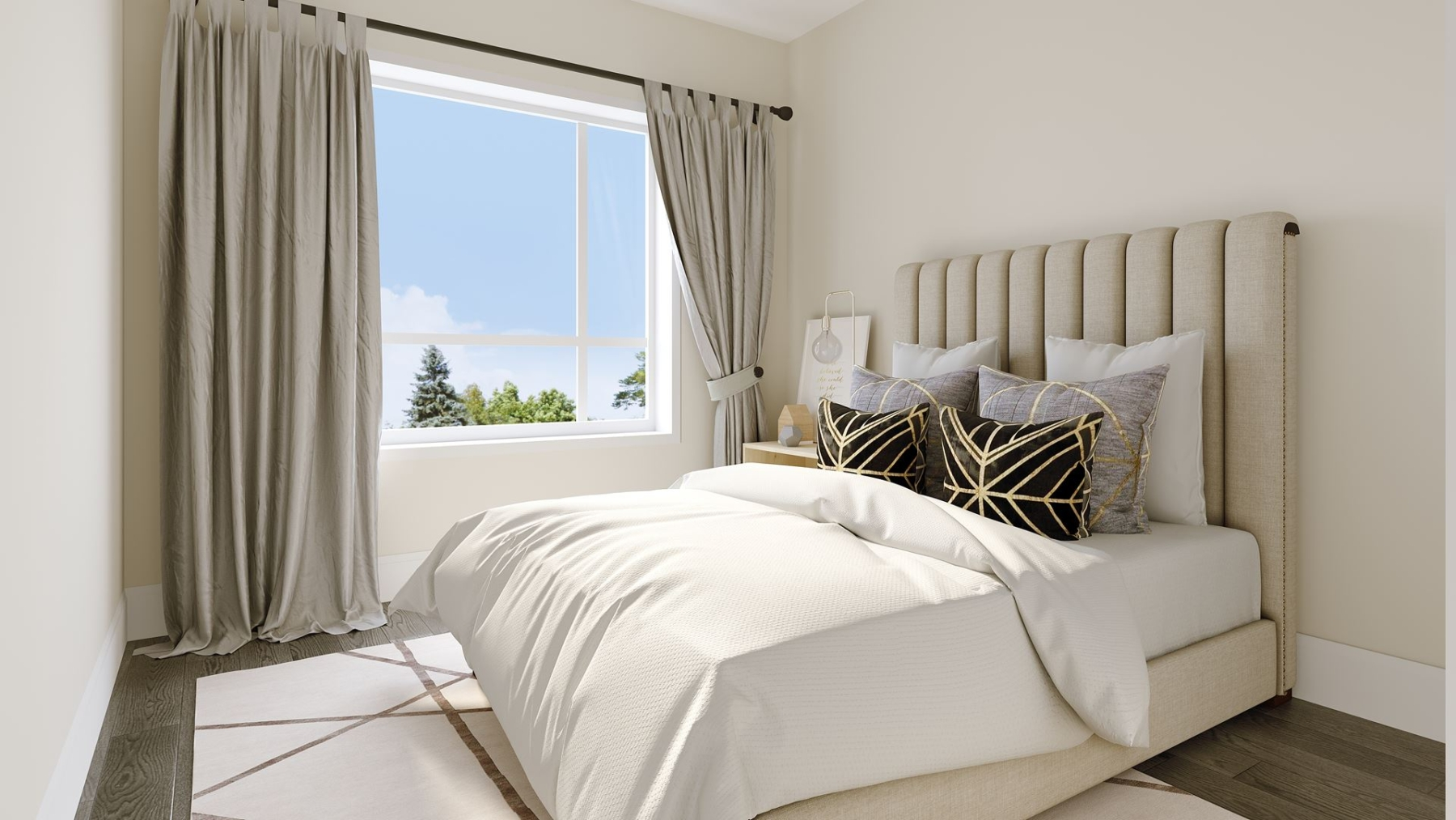 Rendering of Montebello Condos interior bedroom