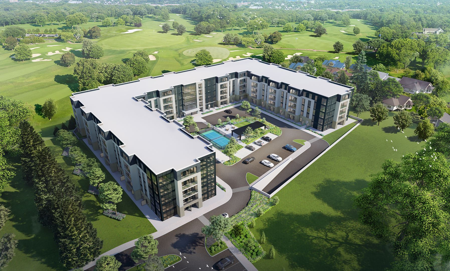 Rendering of Montebello Condos aerial view