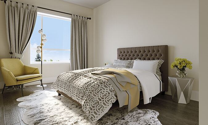 Rendering of Montebello Condos suite interior bedroom