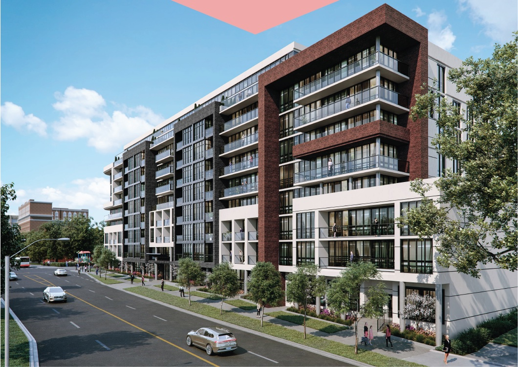 Rendering of Nahid Kennedy Condos exterior during the day