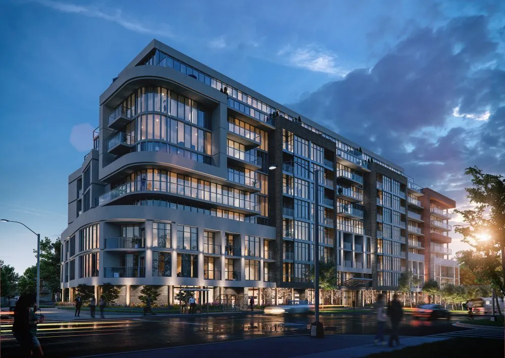 Rendering of Nahid Kennedy Condos at night
