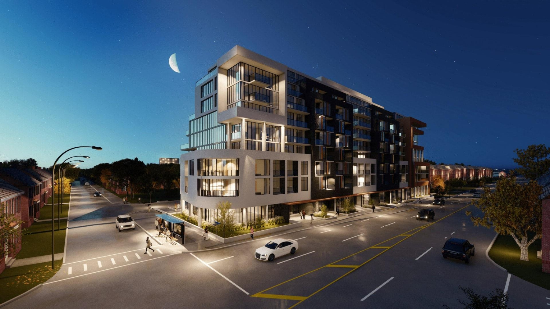 Rendering of Nahid Kennedy Condos night
