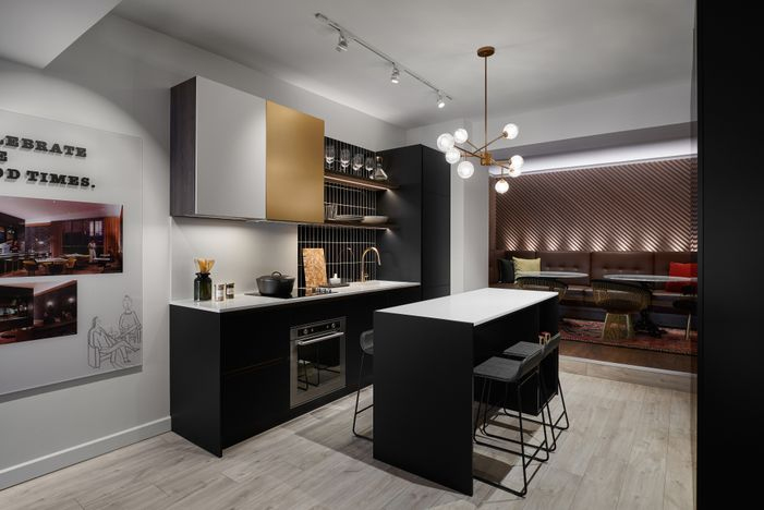 Rendering of The Twelve Hundred Condos suite interior