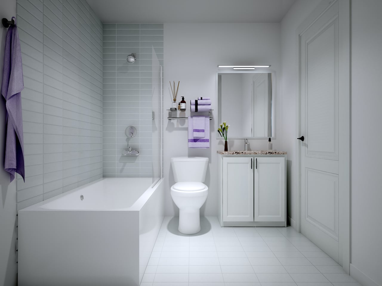 Rendering of Nuvo 2 suite bathroom