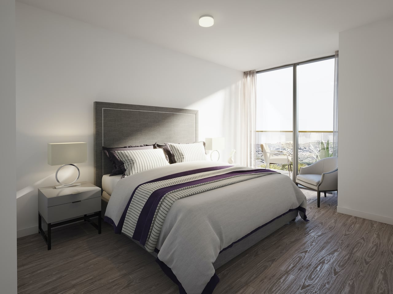 Rendering of Nuvo 2 suite bedroom