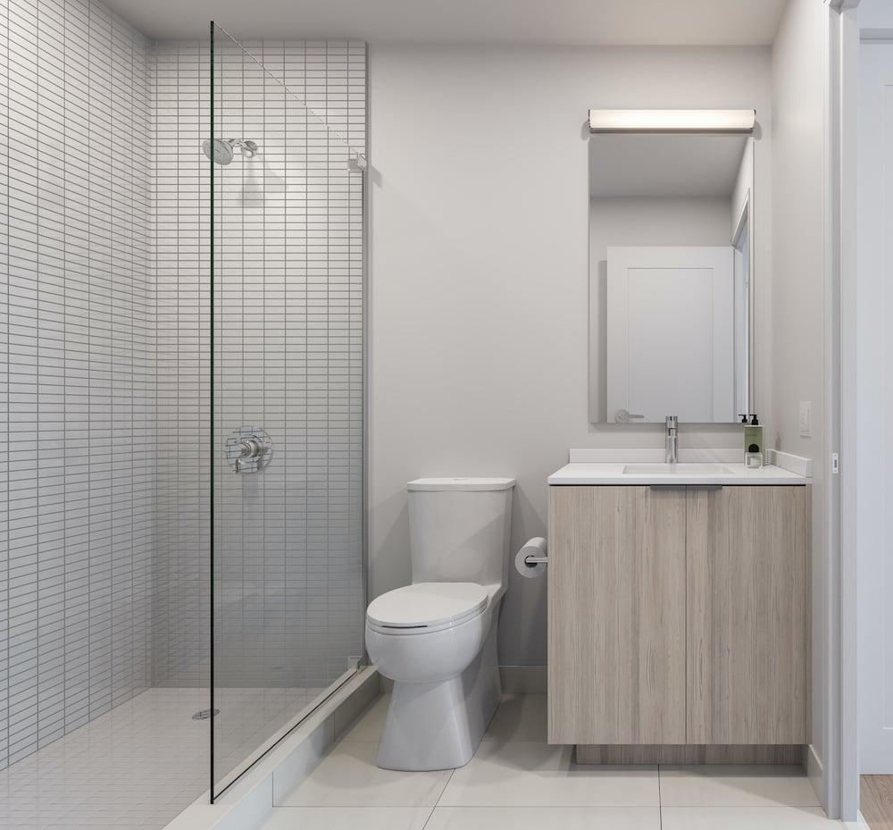 Rendering of 1 Jarvis Condos suite bathroom neige