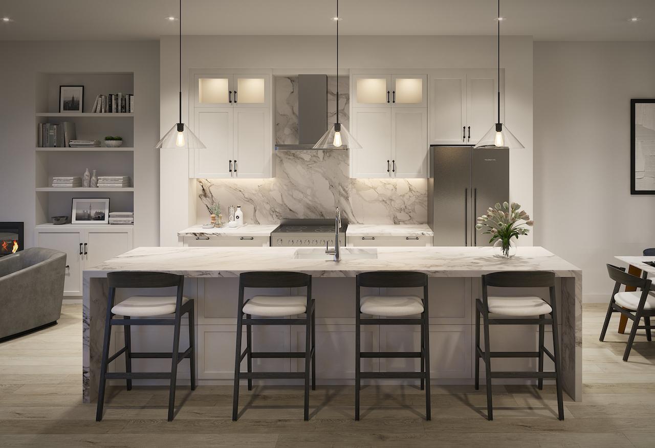Rendering of Archetto Towns interior kitchen design 3